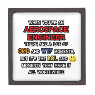 Funny Aerospace Engineer ... OMG WTF LOL Keepsake Box