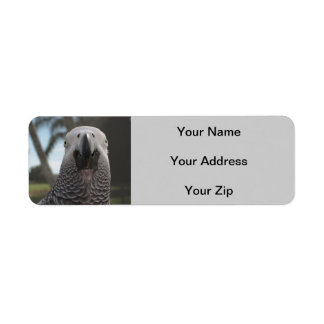 Funny African Grey Label