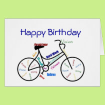 Funny Age Birthday Bike, Cycling, Sport, Hobby Card