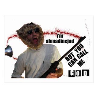 Funny Ahmadinejad Display Postcard