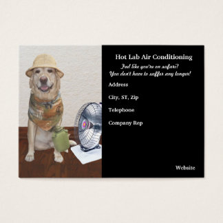 Funny Air Conditioning Business Business Card