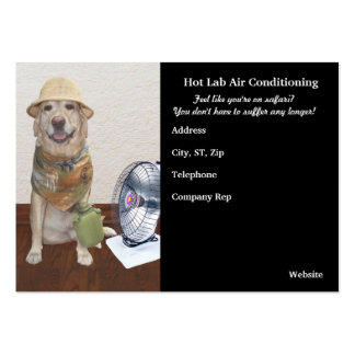 Funny Air Conditioning Business Large Business Card