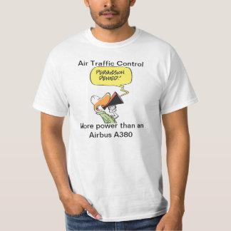 Funny Air Traffic Control Airbus Cartoon T-shirt