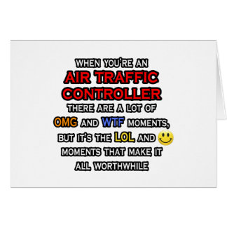 Funny Air Traffic Controller ... OMG WTF LOL Card