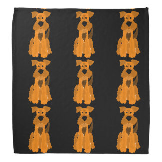 Funny Airedale Terrier Dog Bandana