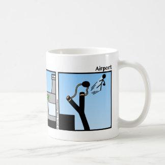 Funny Airport Stickman Mug - 020