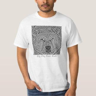 funny akita black and white big dog face T-Shirt
