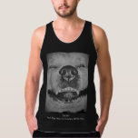 funny akita dog smiling art design with slogan tank top