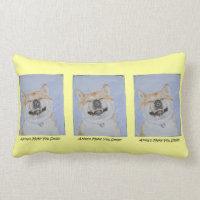 funny akita dog smiling watercolor design lemon