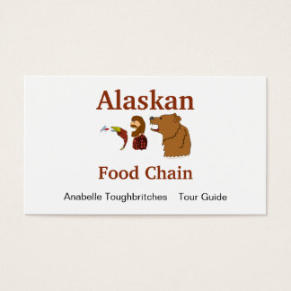 Funny Alaska Souvenir Food Chain Bear and Mosquito Business Card