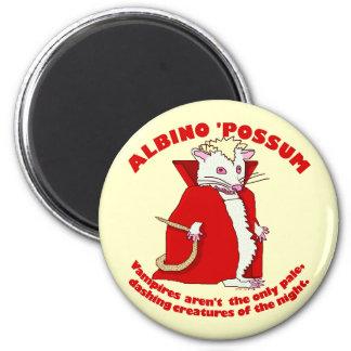 Funny Albino Possum Vampire 2 Inch Round Magnet