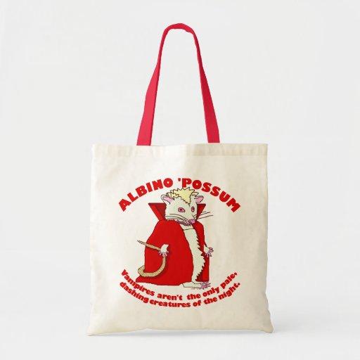 Funny Albino Possum Vampire Tote Bag