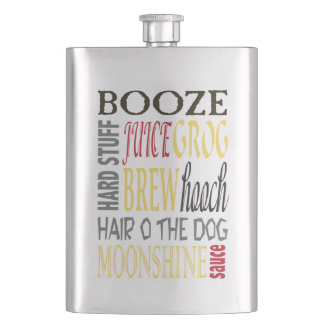 Funny alcohol drinking euphemisms flask