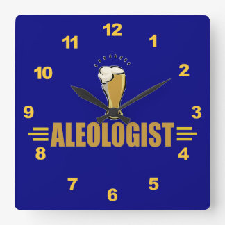 Funny Ale and Beer Square Wall Clock