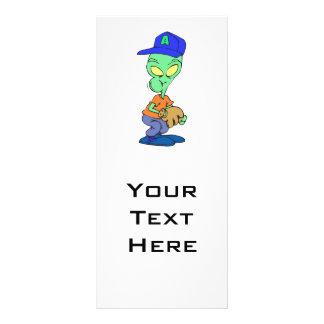 funny alien baseball player pitcher rack card