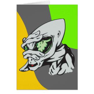 Funny Alien Card