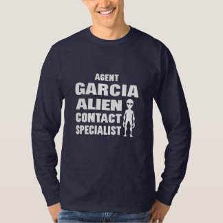 Funny Alien Contact Agent Personalized Name T-Shirt