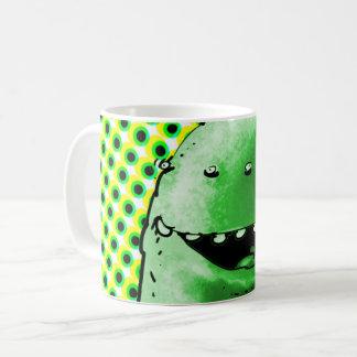 funny alien face cartoon coffee mug