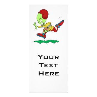funny alien football player rack card