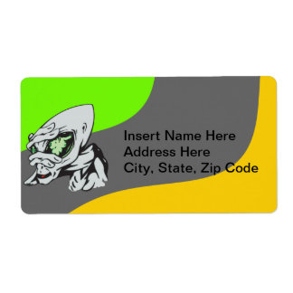 Funny Alien Label