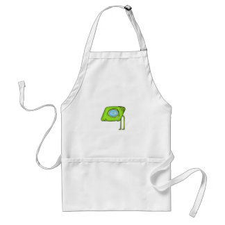 Funny Alien Monster Character Adult Apron