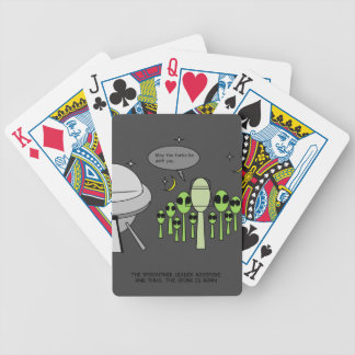 Funny Alien Playing Cards