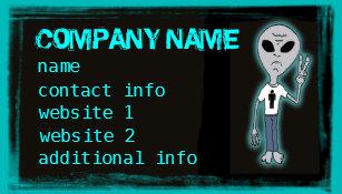 Shirt business cards templates zazzle funny alien t shirt customizable business cards colourmoves