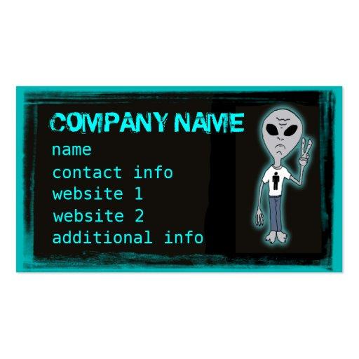 Funny alien t shirt customizable business cards zazzle for Business cards for t shirt business