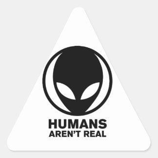 Funny Alien Triangle Sticker