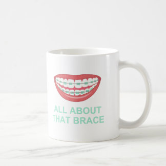 Funny All About the Brace Spoof Classic White Coffee Mug