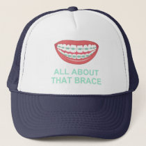 Funny All About the Brace Spoof Trucker Hat