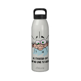 Funny All Stressed Out Water Bottle