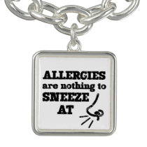 Funny Allergies Nothing to Sneeze At square Bracelet