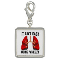 Funny Allergy Being Wheezy square Charm