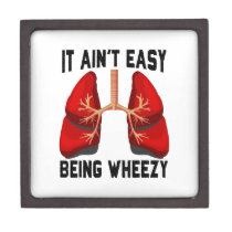 Funny Allergy Being Wheezy square Gift Box