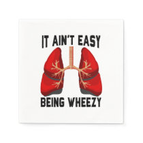 Funny Allergy Being Wheezy square Napkin