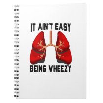 Funny Allergy Being Wheezy square Notebook