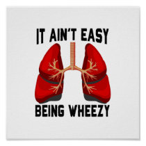 Funny Allergy Being Wheezy square Poster