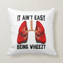 Funny Allergy Being Wheezy square Throw Pillow