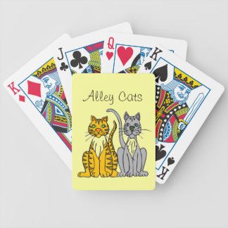 Funny Alley Cats Orange Gray Animal Bicycle Playing Cards