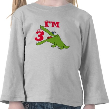 Funny Alligator 3rd Birthday T Shirt, Shirts