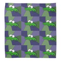 Funny Alligator Art Bandana