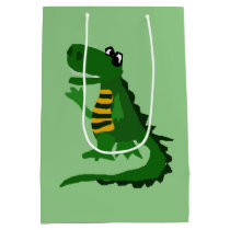 Funny Alligator Art Gift Bag