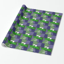 Funny Alligator Art Wrapping Paper