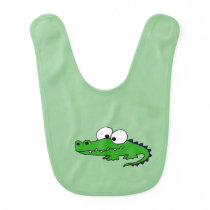 Funny Alligator Baby Bib