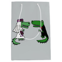 Funny Alligator Bride and Groom Gift Bags