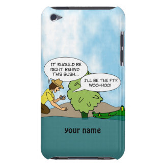 Funny Alligator Geocaching Personalized itouch iPod Case-Mate Cases