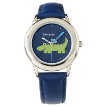 Funny Alligator Personalized Wristwatch