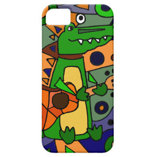 Funny Alligator Playing Guitar Original Modern Art iPhone SE/5/5s Case