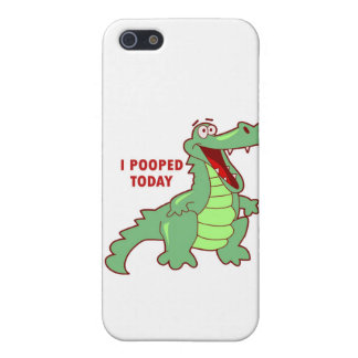 Funny Alligator Pooped Today Case For iPhone 5